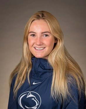 Harvey Competes in Penn State's Blue & White Meet (Swimming)